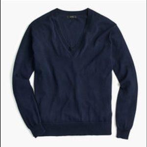 JCrew v-neck cotton sweater